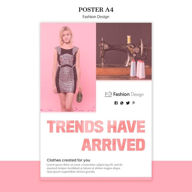 Plakat Projektowania Mody Darmowe Psd