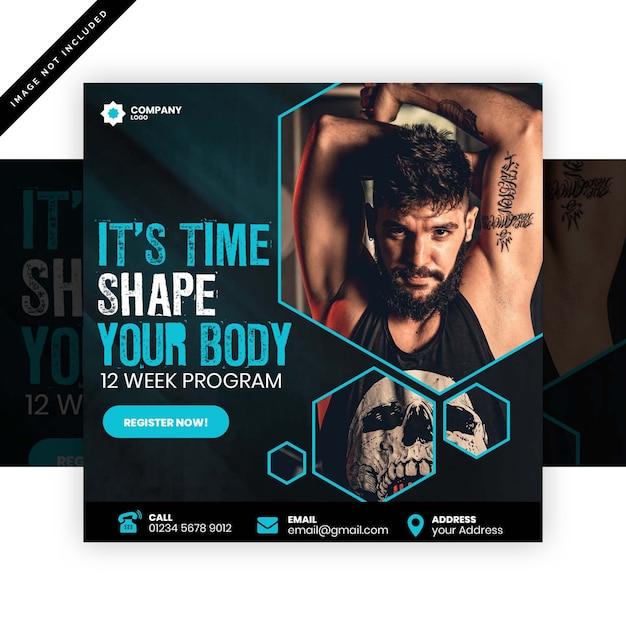 Plakat Siłowni Premium Psd