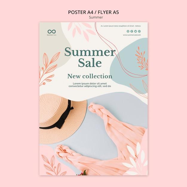 Plakat Sprzedaż Kolekcji Letniej Darmowe Psd