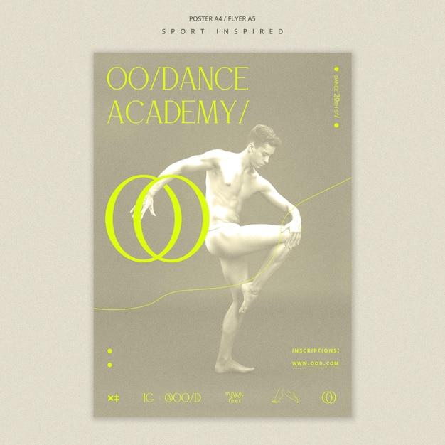 Plakat Szablon Akademii Tańca Darmowe Psd