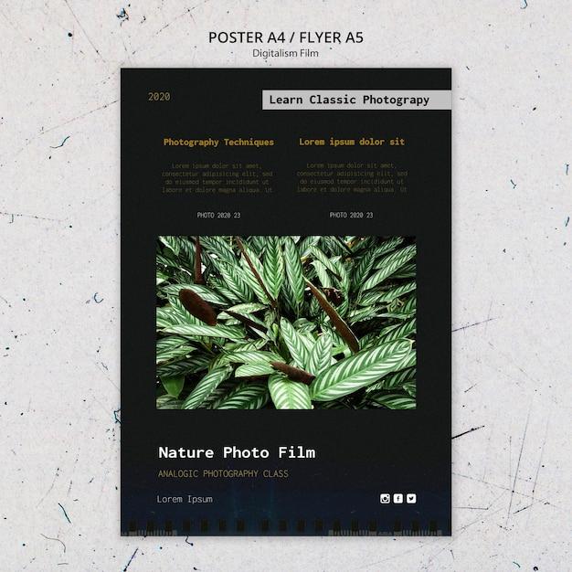 Plakat Szablon Filmu Fotograficznego Natury Darmowe Psd
