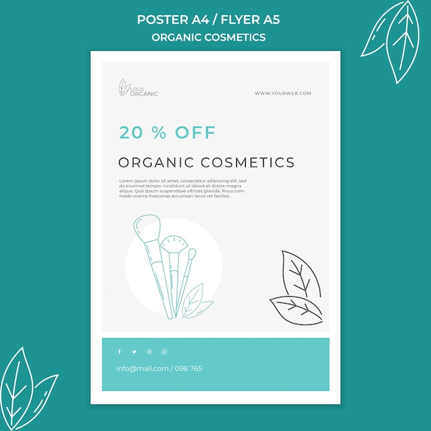 Plakat Szablon Kosmetyki Organiczne Darmowe Psd