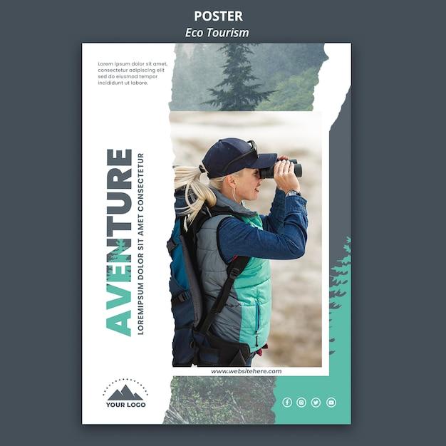 Plakat Szablon Turystyki Ekologicznej Darmowe Psd