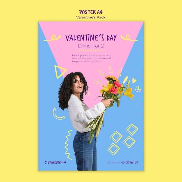 Plakat Szablon Walentynki Darmowe Psd