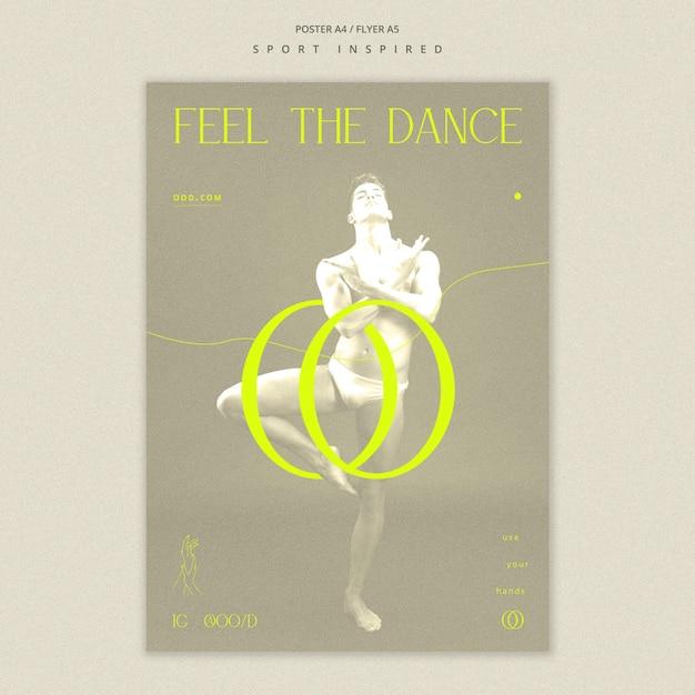 Plakat Szablonu Akademii Tańca Darmowe Psd