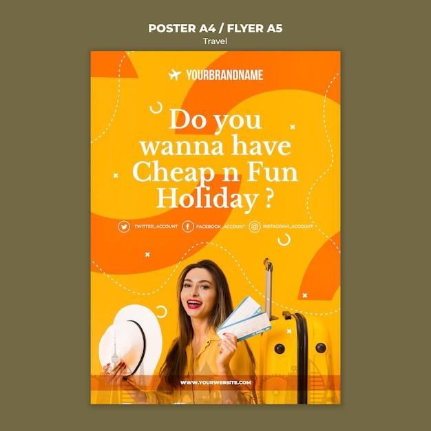 Plakat Szablonu Biura Podróży Darmowe Psd
