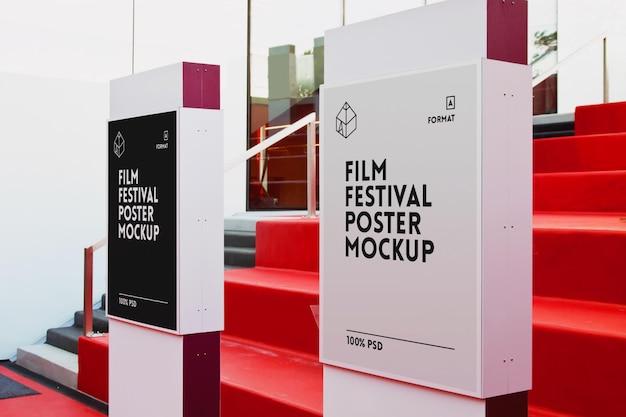 Plakat Z Festiwalu Filmowego Mock-up Premium Psd
