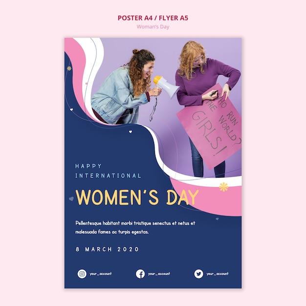 Plakat Z Okazji Dnia Kobiet, Który Rządzi światem Darmowe Psd