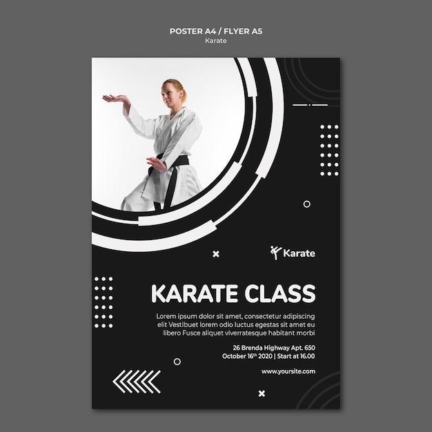 Plakatowy Szablon Reklamy Klasy Karate Darmowe Psd