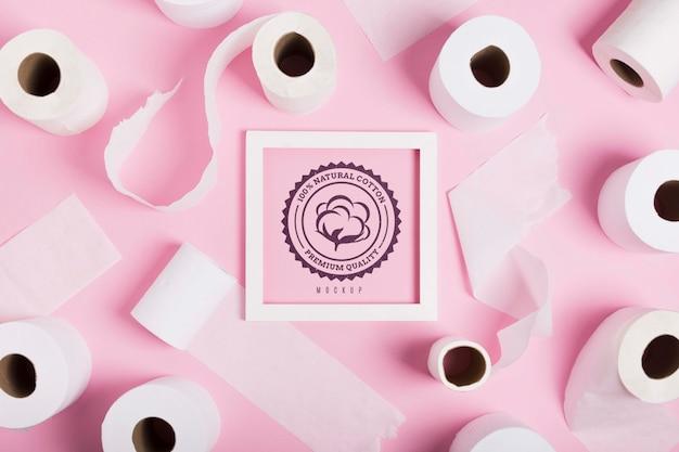 Płaski Układ Rolek Papieru Toaletowego Z Ramą Darmowe Psd
