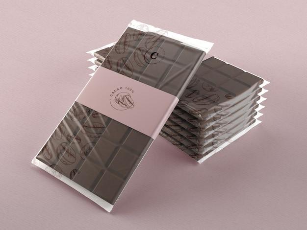 Plastikowa folia do makiety tabletek czekoladowych Darmowe Psd