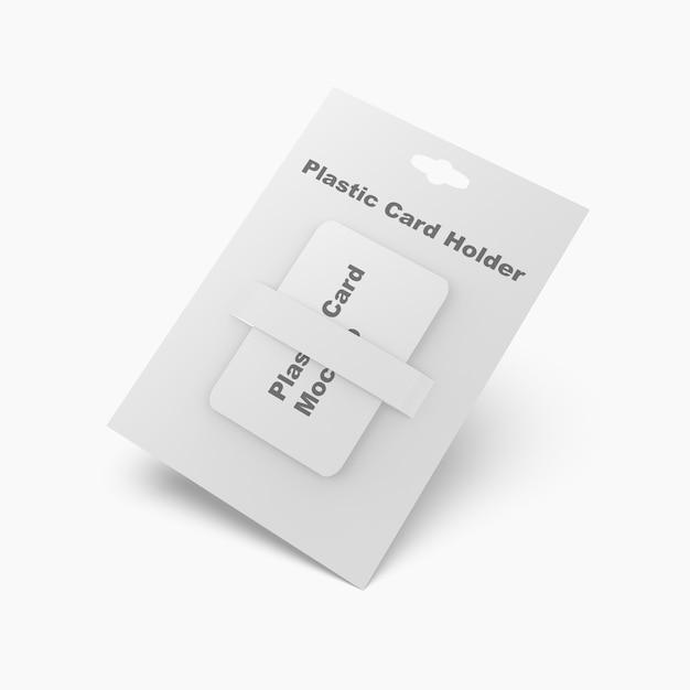 Plastikowa Karta Na Białym Tle Premium Psd