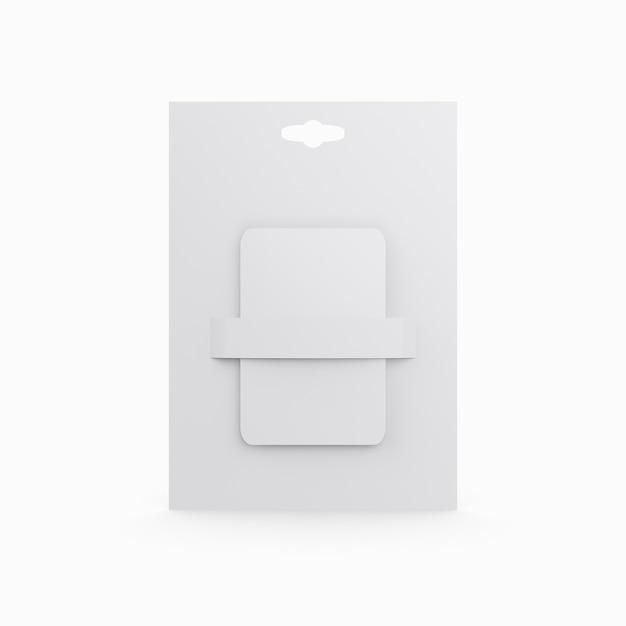 Plastikowa Karta Prezent Na Białym Tle Premium Psd