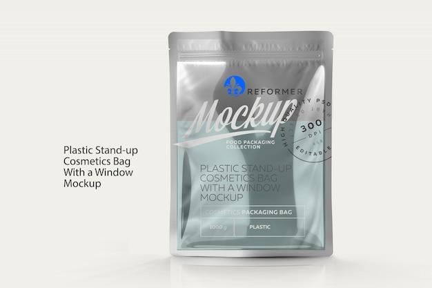 Plastikowa Stojąca Kosmetyczka Z Makietą Premium Psd