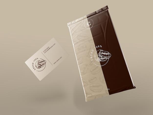 Plastikowe opakowanie na tabletkę czekoladową Darmowe Psd