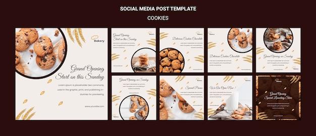 Pliki Cookie Przechowują Szablon Postów W Mediach Społecznościowych Premium Psd