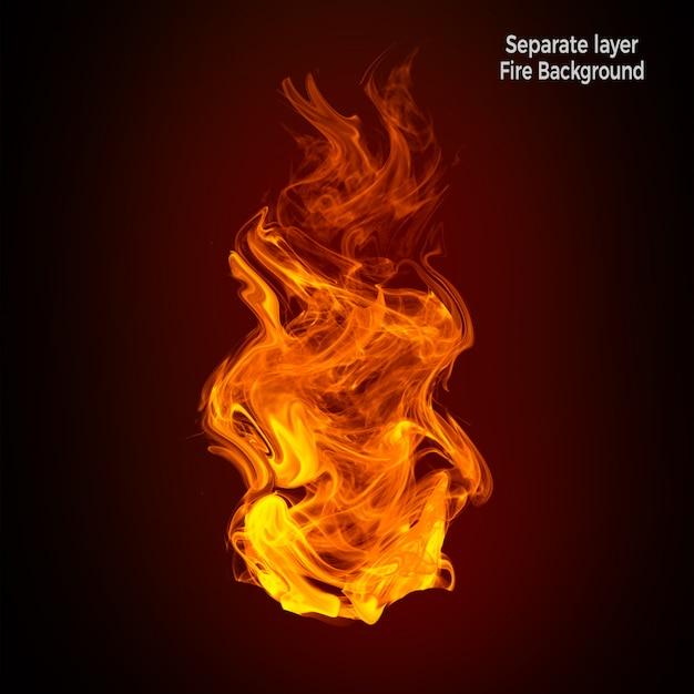 Płomienie Ognia Na Białym Tle Premium Psd