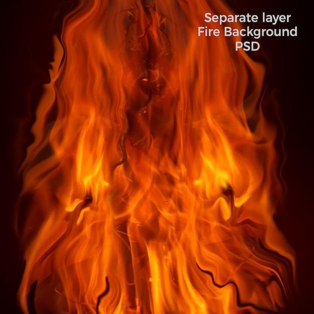 Płomienie wysokiej jakości tła Premium Psd