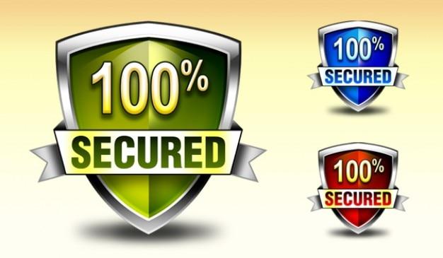 Pobrać identyfikator bezpieczeństwa tarczy i ikony w kolorach Darmowe Psd