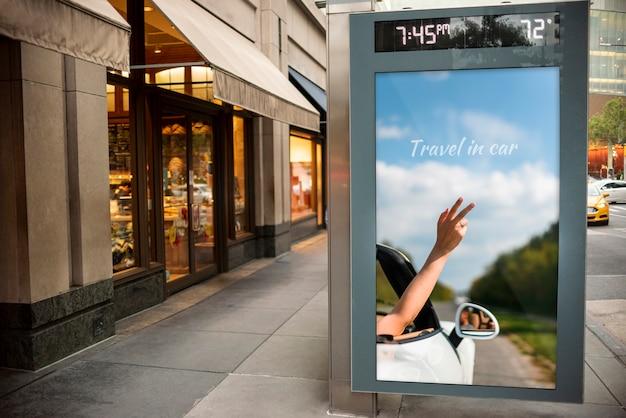 Podróżny billboard z makietą Darmowe Psd