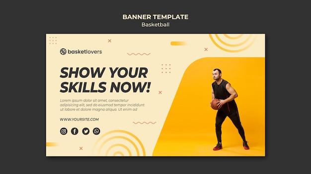 Pokaż Swoje Umiejętności Szablon Sieci Web Banner Koszykówki Darmowe Psd