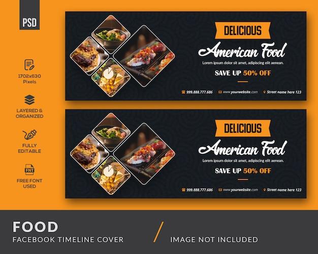 Pokrycie Facebooka Dotyczące żywności Premium Psd