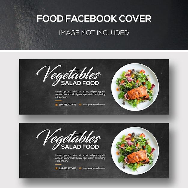 Pokrycie facebooka na temat żywności Premium Psd