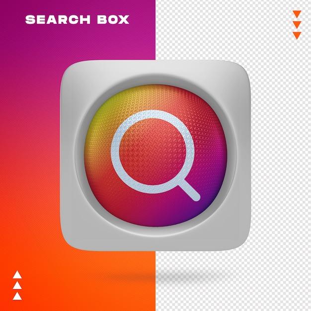 Pole Wyszukiwania W Renderowaniu 3d Izolowane Premium Psd