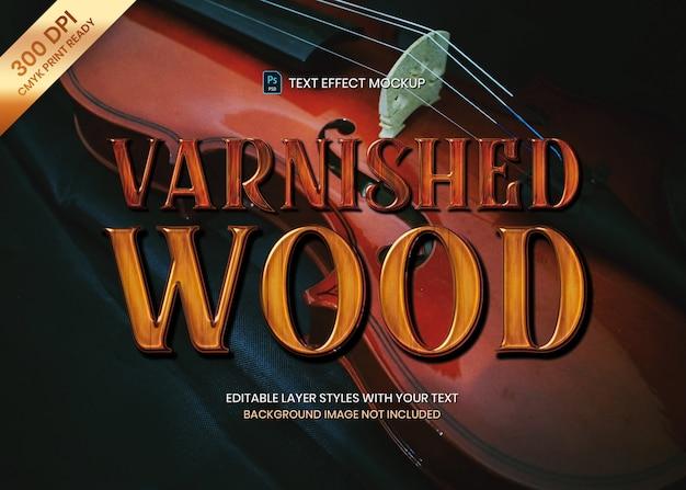 Połysk Błyszczący Tekst Drewna Efekt Wydruku Szablonu Premium Psd