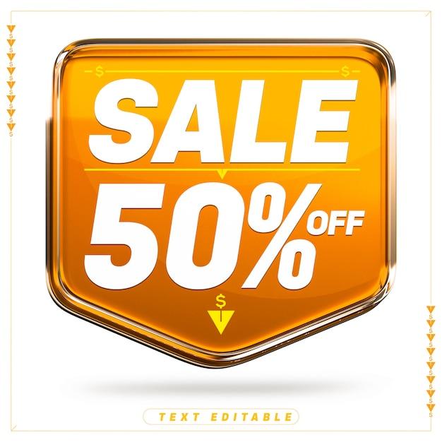 Pomarańczowy Sztandar Super Sprzedaż 3d Premium Psd