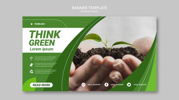 Pomyśl, Szablon Transparent Zielone środowisko Darmowe Psd