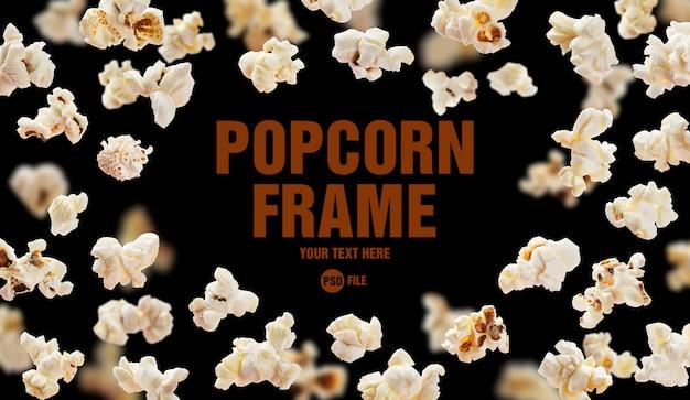 Popcorn Odizolowywający Na Czarnym Tle Premium Psd