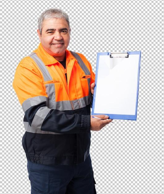 Portret Dojrzałego Pracownika Wykazujące Pliki Premium Psd