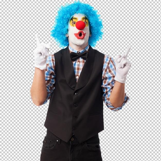 Portret uśmiecha się klaun Premium Psd