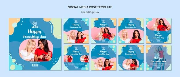 Post Społecznościowy Z Dnia Przyjaźni Darmowe Psd