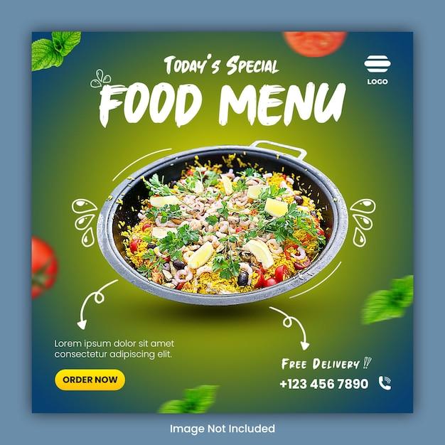 Post Szablonu W Mediach Społecznościowych Kulinarnych żywności Premium Psd