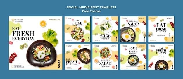 Post Zdrowej żywności W Mediach Społecznościowych Darmowe Psd