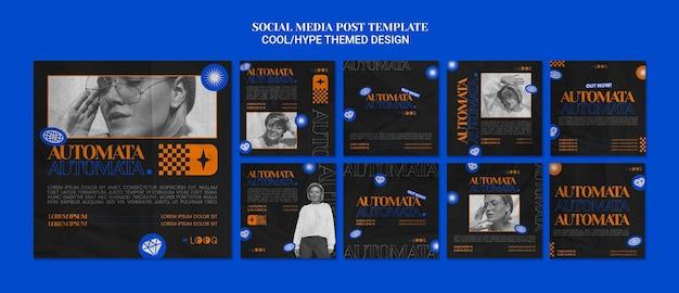 Posty W Mediach Społecznościowych O Tematyce Hype Darmowe Psd