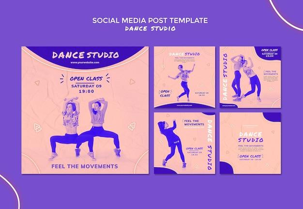 Posty W Mediach Społecznościowych Studia Tańca Darmowe Psd