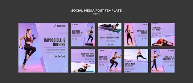 Posty W Mediach Społecznościowych Z Koncepcją Sportu Darmowe Psd