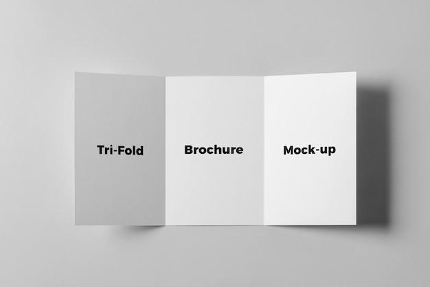 Potrójna broszura makieta Premium Psd