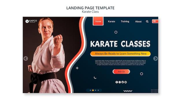 Poziomy Baner Dla Klas Karate Kobiet Premium Psd