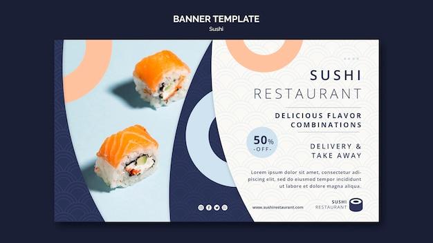 Poziomy Baner Do Restauracji Sushi Darmowe Psd