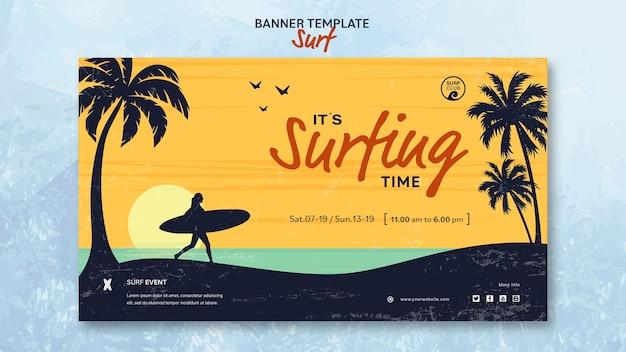 Poziomy Baner Na Czas Surfowania Darmowe Psd