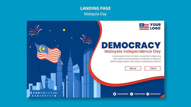 Poziomy Baner Na Obchody Rocznicy Dnia Malezji Darmowe Psd