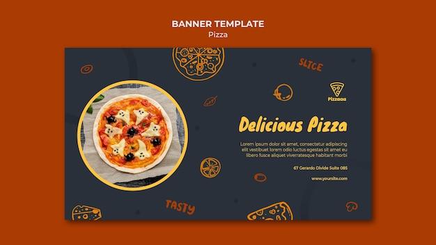 Poziomy Baner Szablon Dla Pizzerii Darmowe Psd