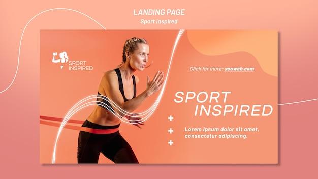 Poziomy Baner Szablon Do Treningu Fitness Darmowe Psd