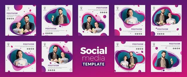 Pozytywizm Koncepcja Mediów Społecznych Szablon Darmowe Psd