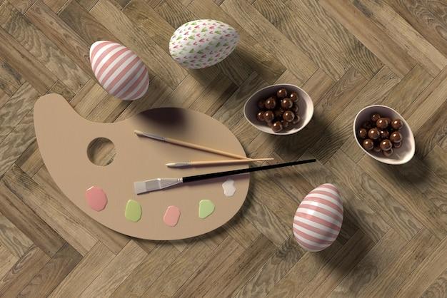 Proces Malowania Jaj Na Wielkanoc Darmowe Psd