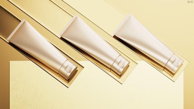 Produkt Kosmetyczny Na Złocie Premium Psd